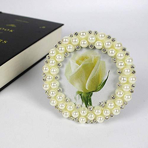YUKUAS 3 inch lijst parel fotolijst bruiloft foto studio fotoalbum slinger ornamenten