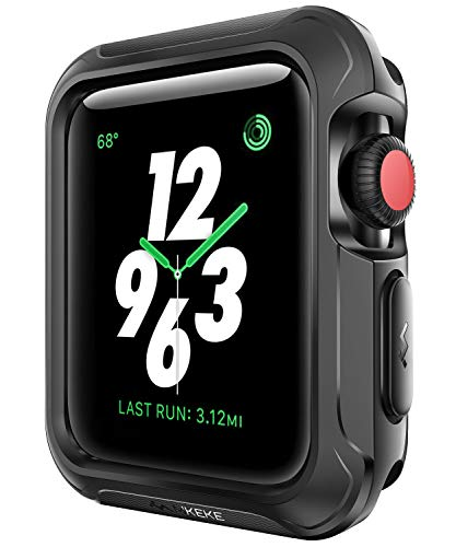 V85 Compatible Apple Watch Case 42mm, Shock-proof and Shatter-resistant Protector Bumper iwatch Case Compatible Apple Watch Series 3, Series 2, Series 1, Nike+,Sport, Edition Black