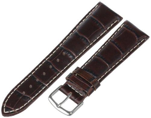 Hadley-Roma Men's 20mm Leather Watc…