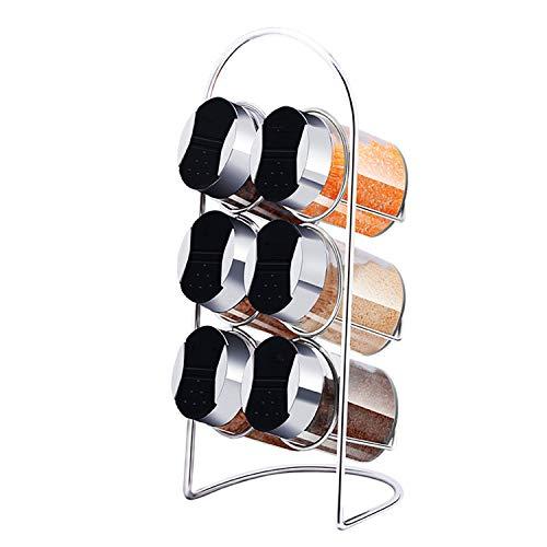 Family Needs Gerieflijke Opslag en niet ruimte innemen, Keuken Voorzieningen, originative kruiden Kruik Met Shelf, 7-delige Glass Cruet Set