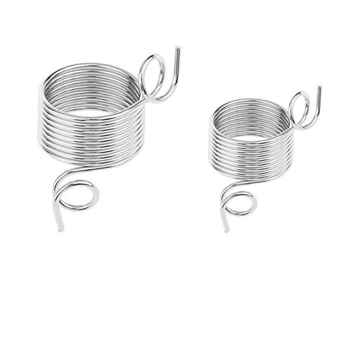 Review Of nobrand 2 Size 17-19mm Yarn Spring Guides Stainless Steel Needle Thimble Ring Type Knittin...