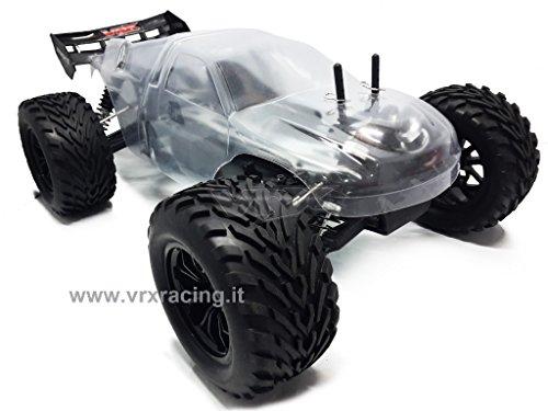 VRX Truggy XXX Sword off Road 1/10 con Telaio in Metallo Meccanica Completa + Carrozzeria Trasparente 4WD