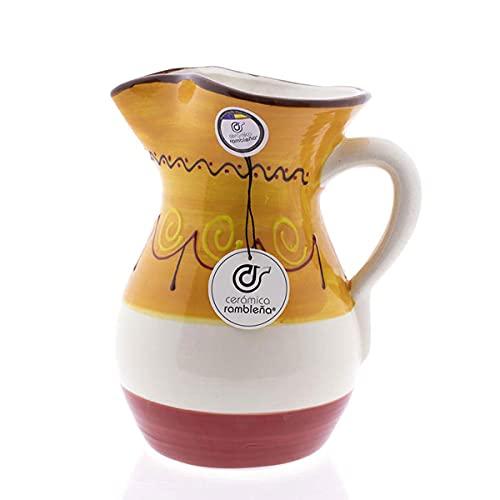 Ceramica Rambilena   Caraffa per acqua   Caraffa per latte   Caraffa in terracotta rossa   Caraffa per succo   Caraffa per acqua modello 04   Decorazione 100% fatta a mano   1,5 litri