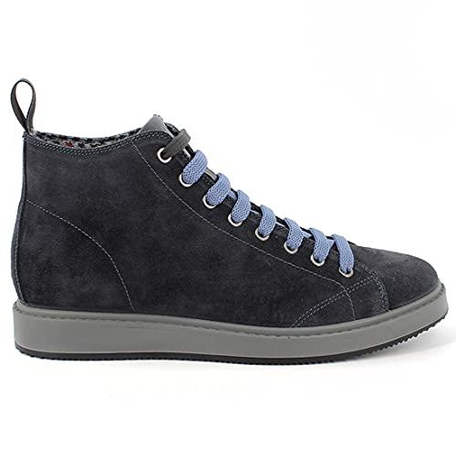 IGI&CO Sneaker Hi-Top da Uomo Blu in camoscio - Santiago 8124700 - Taglia 42