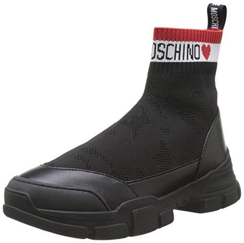 Love Moschino Damen Scarpa Nod. Trekking Hohe Sneaker, Schwarz (Nero 000), 39 EU