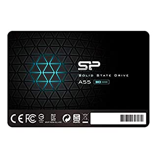 "Silicon Power 512GB SSD 3D NAND A55 SLC Cache Performance Boost SATA III 2.5"" 7mm (0.28"") Internal Solid State Drive (SU512GBSS3A55S25UA) (B07NP3KZC3) 
