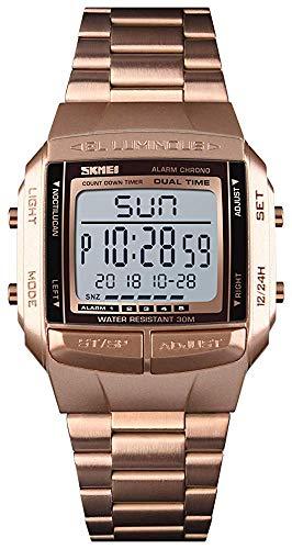 Mens Digital Watch Sports Alarm Stopwatch Business Watches Square Waterproof Men