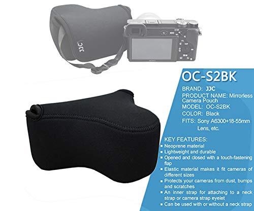 JJC Black Ultra Light Neoprene Camera Case for Sony a6600 a6500 a6400...