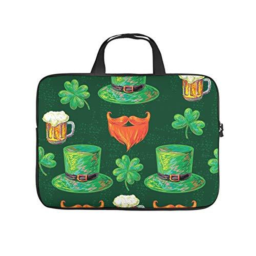 Funda para portátil de St Patrick, con diseño de trébol, resistente al agua, de neopreno, para un amigo o novia