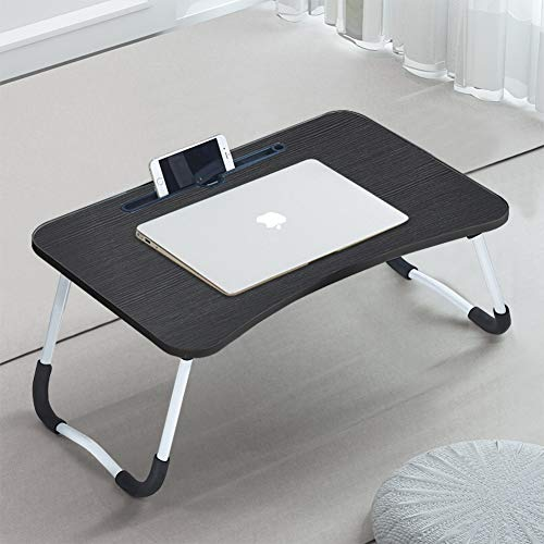 CLIPOP Adjustable Laptop Bed Table,Portable Lap Desk Bed Tray Laptop with Foldable Legs Folding Breakfast Serving Coffee Tray Notebook Stand Reading Holder for Couch Sofa Floor Kids
