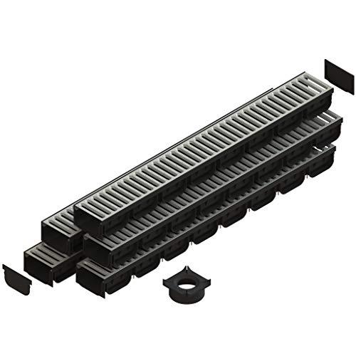 Standartpark - 4 Inch Spark 2 Premium Trench Drain Channel - Galvanized Stamped Steel Grating (5)