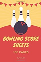 Bowling Score Sheet: Bowling Game Record Book, Bowler Score Keeper, Can be used in casual or tournament play, 100 Pages