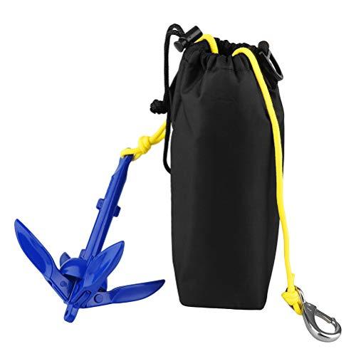 taianle Kit de Anclaje Kit de Carro de Anclaje Plegable Accesorios de Kayak de Ancla de Barco para Pesca