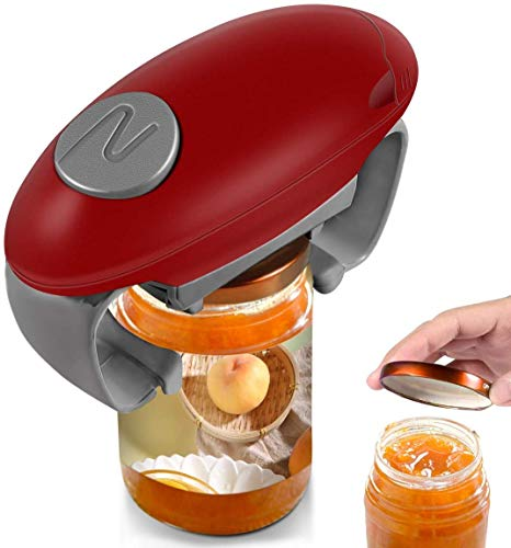 Electric Jar Opener Hands Free Bottle Opener Restaurant Automatic Jar Opener for Seniors with Arthritis