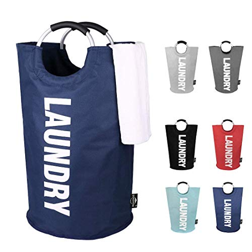 JUMOWA Laundry BasketCollapsible Fabric Laundry BagsFoldable Laundry Hampers Pop Up Laundry Bin with Handles for Bedroom Fabric Nordic Style Instagram Decoration
