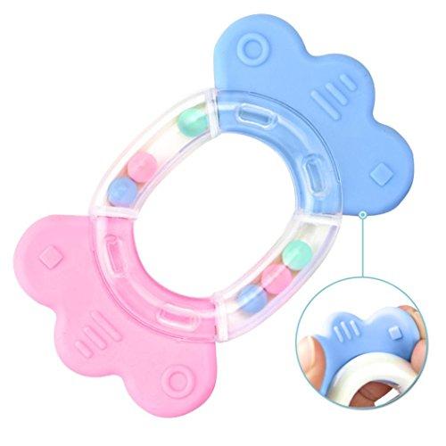 Fulltime® Bébé Jouet Hochet Clochette - 10 pièces de hochets avec différentes couleurs et formes -idéal cadeaux pour les Bébés (I)