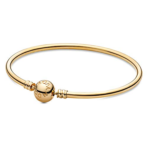 PANDORA Jewelry Moments Bangle Charm Gold 14K Bracelet, 6.7