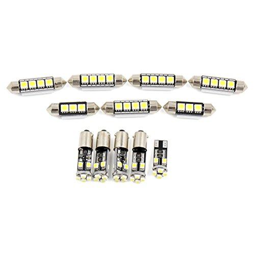 sourcingmap BA9S T10 Canbus 8 LEDs 36mm 41mm Luz de Techo