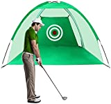 HYQL Golf Hitting Net For Backyard - New 3M Golf Net Golf Practice Net Indoor Outdoor Sport Golf Exercise Equipment for Garden Portable Golf Cage Training Aids with Target and Carry Bag