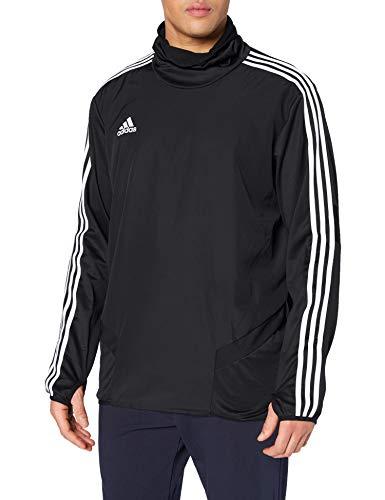 adidas Herren TIRO19 WRM TOP Sweatshirt, Black/White, L