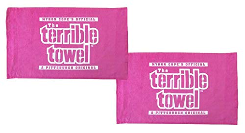 Terrible Towels Official Pittsburgh Set of Two Pink Towels