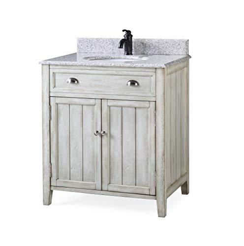 32' Benedetta Distressed Gray Rustic Bathroom Vanity HF-4244