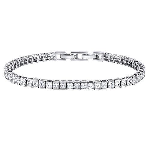 SILVEGO Damen Armband aus 925 Sterling Silber Tennis Armband mit Zirkonia GRACE
