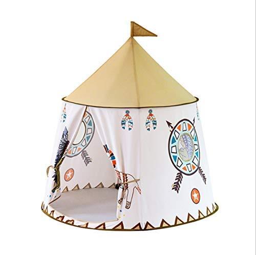 HB.YE Spielzelt Kinder Kinderzelt Spielhaus Baby Spielschloss Prinzessin Princess drinnen draußen Kinderzimmer Indianer Deko 123*116* 116cm (Löwe)