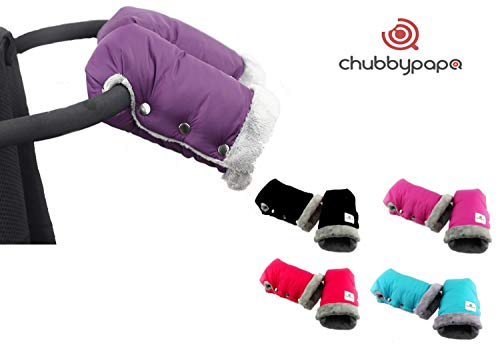 Warme handen ** Super Soft Muff handwarmer ** dikke handschoenen met thermo-fleece ** waterdicht en winddicht ** universele maat voor kinderwagen, buggy enz. roze