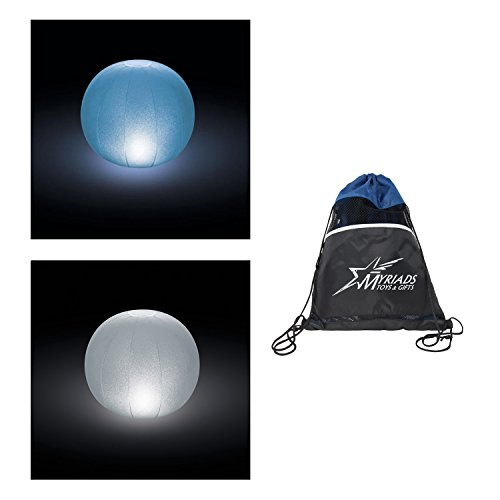 Intex Floating LED Balls with Multi-Color Option, Set of 2 - Includes Drawstring Storage Bag