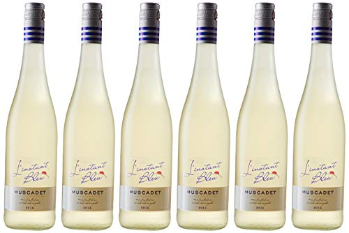 L INSTANT BLEU Loire Valley Vin Blanc Muscadet 750 ml - Lot de 6