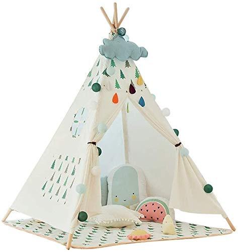 JUANCHUN Jeu jeux for enfants jeux for les enfants du château de jeu for enfants tente pliante jeu en toile de coton tentes tipi, tente for les enfants avec des sacs de fenêtre tapis décorations sapin