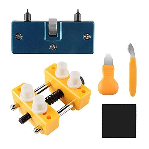 Ouvreur de boîte de Montre réglable, Outil d'ouverture de Montre, démonte-Pile de Montre, kit d'outils de Remplacement de Pile de Montre pour Divers Types de Montres.