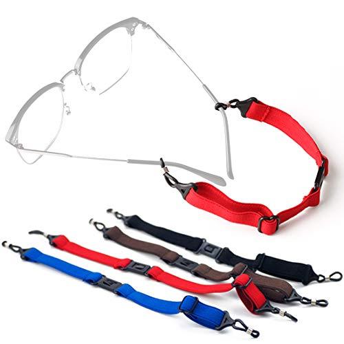 Eyeglasses Holder Strap Eyewear Glasses Sunglasses Straps Retainers Lanyard Sports Swimming Anti-Slip Hooks - 4 Pcs