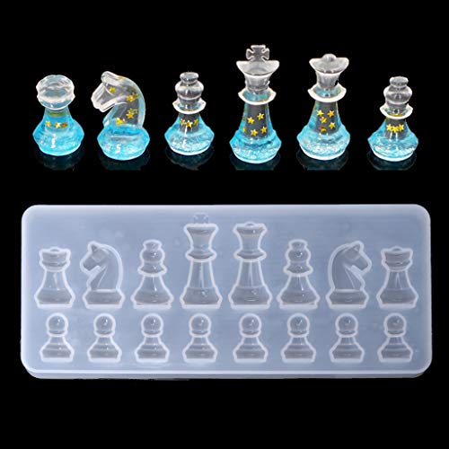 Cuigu molde ajedrez International molde silicona molde