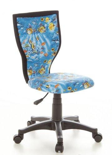 HJH OFFICE 670000 bureaustoel voor kinderen/draaistoel Kiddy Lux netstof Visontwerp