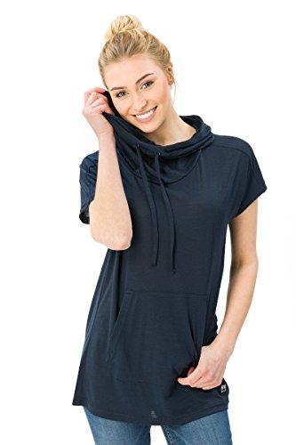 Super.Natural T-Shirt W Vacation Funnel en Laine mérinos pour Femme XS Blazer Bleu Marine.