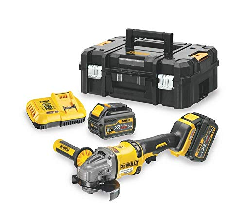 Dewalt haakse slijper met accu, 125 mm, 54 V, XR Flexvolt, 1 stuks Batterijen inbegrepen zwart, geel