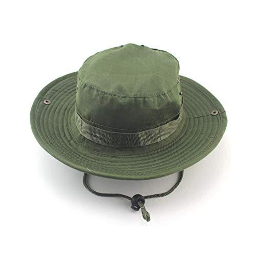 Sombrero táctico Boonie, unisex, redondeado, para pescador, protección solar, para airsoft, paintball, escalada, camping, etc
