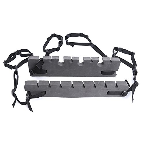 NUZAMAS Soporte portátil para cañas de pescar, soporte para reposacabezas de coche,...