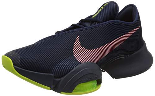 Nike Air Zoom SUPERREP 2, Scarpe da Calcio Uomo, Blackened Blue/BRT Mango-Cyber-Ashen Slate-Thunder Blue-Volt, 40 EU