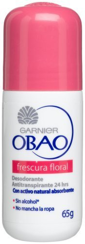 Obao Frescura Floral Roll On Deodorant, 2.29-Ounce Package (Pack of 6) by Obao