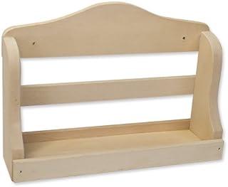 Eliga - Estantería de pared (madera, 21 cm de ancho)