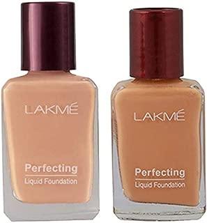 Lakme Perfecting Liquid Foundation, Coral, 27ml & Lakme Perfecting Liquid Foundation, Shell, 27ml