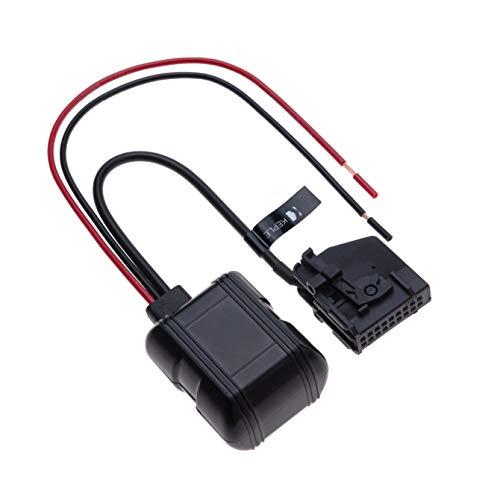 Entrada de 18 pines 12V a la interfaz de música Bluetooth Adaptador de audio MP3 compatible con Mercedes-Benz W168, W202, W203, W208, W209, W211, W461, W463, W163, W164, R129, R170 | Cable conector