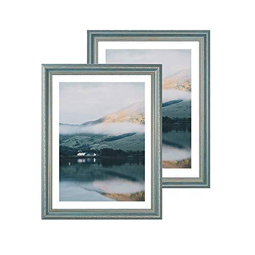 Lot de 2 cadres photo en résine pour décoration murale et affichage de table horizontal ou vertical, Résine, 10