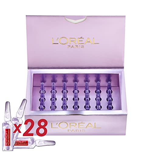L'Oreal Paris Revitalift Filler Hyaluronic Acid Ampoules 28-Day Bumper Pack of Concentrated Serum to Transform Skin, 0.275 kg