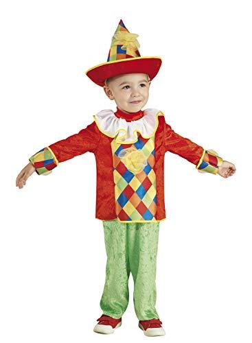 Clown Republic, Arlequin Disfraz para niño, 16804/04, color blanco