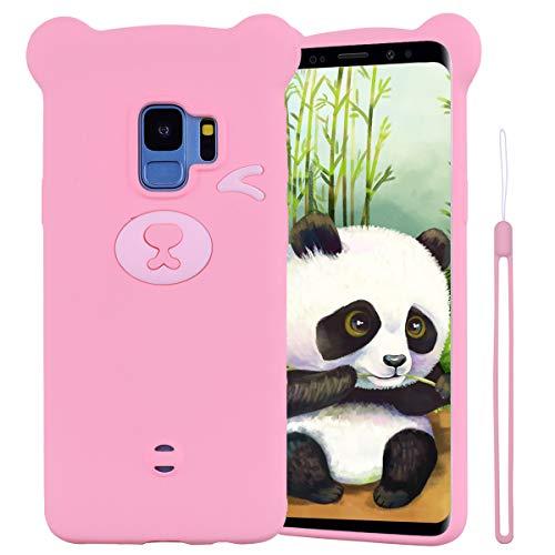 ChoosEU beschermhoes voor Samsung Galaxy S9 Plus silicone patroon beer bont