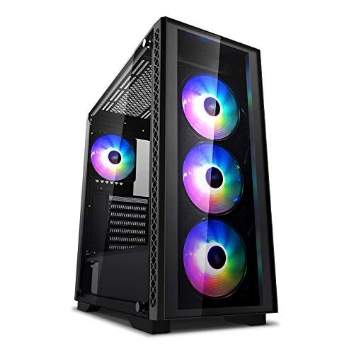 DEEP COOL MATREXX 50 ADD-RGB 4F, Custodia per PC Mid-Tower, Compatibile con E-ATX, 4 ventole A-RGB preinstallate
